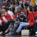 Kylie Jenner and Travis Scott at The Houston Rockets Game in Houston, Texas - April 25, 2017