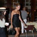 Hailey Baldwin in Little Black Dress – Night out in New York - 454 x 603