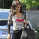 Zoe Saldana - Zoe at a Recording Studio in Hollywood November 9, 2010