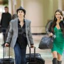 Nina Dobrev and Ian Somerhalder were spotted at Los Angeles International Airport last night, January 11