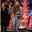 She dons a metallic dress  on The Tonight Show with Jay Leno on Friday (December 20