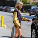 Taylor Swift steps out in the Tribeca area of New York City, New York on August 31, 2012