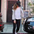 Minka Kelly was spotted leaving a nail salon in Los Angeles, California on June 16, 2016