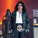 Alice Cooper is seen performing with his band Hollywood Vampires at 'Jimmy Kimmel Live' in Los Angeles, California on June 13, 2019 - 454 x 595
