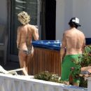 Pamela Anderson Bikini Candids In Sardinia