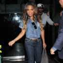 Christina Milian leaves Mr Chow restaurant after enjoying dinner with her new boyfriend, Jas Prince on October 4, 2012 in Beverly Hills