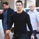 Joe & Kevin Jonas meet some friends for lunch in Los Angeles, California on January 9, 2015 - 451 x 594