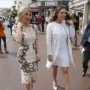 Kelly Brook In White Dress Out and About In Cannes
