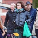 Helena Bonham Carter out with Rye Dag Holmboe and son in North London - 454 x 753
