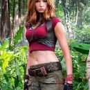 Karen Gillan as Ruby Roundhouse in Jumanji: Welcome to the Jungle