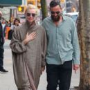 Tilda Swinton and Sandro Kopp are spotted out for a stroll in New York City, New York on March 31, 2016