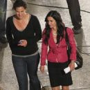 Courteney Cox - Ourtney Cox - Scream 4 Set Detroit 7-14-2010