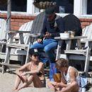 Bianca Bree in Bikini Top on the beach in Malibu