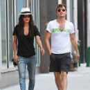 Jessica Szohr And Ed Westwick Out Walking In New York