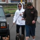 Sandra Bullock And Jesse James Out For A Walk With Jesse's Kids In Huntington Beach, May 25 2008