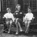 Brian Epstein (right, age 11) with his mother Queenie and brother Clive at home in Liverpool, 1945 - 454 x 317