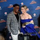 Brie Larson and Samuel L Jackson - 'Captain Marvel' European Gala - Red Carpet Arrivals - 454 x 306