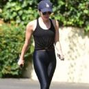 Lucy Hale in Black Leggings – Out in Studio City