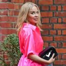 Kylie Minogue – In an electric pink silk outfit in South London - 454 x 545