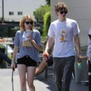 Emma Roberts: grab coffee and lunch in Los Angeles
