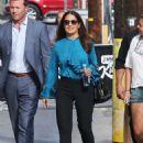 Salma Hayek Arriving At Jimmy Kimmel Live In Hollywood