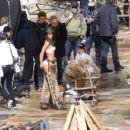 Lais Ribeiro Shooting a commercial for Victoria Secret's upcoming holiday catalog in Aspen - 454 x 430