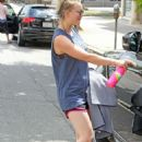 Kaley Cuoco Leaving Workout in Studio City - 454 x 681