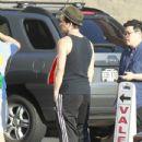 Colin Farrell Leaves a Yoga Class