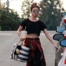Sarah Hyland in Leggings – Leaves the gym in Los Angeles