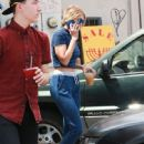 Joe Jonas and Gigi Hadid are seen leaving a cafe  in Los Angeles Friday August 14,2015