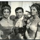 Pierre Mondy, Martine Carol and Claudia Cardinale - 454 x 325