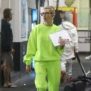 Hailey Baldwin and Justin Bieber at a hockey game practice in Los Angeles