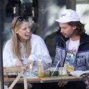 Abby Champion and Patrick Schwarzenegger – Spotted while out for lunch at Kreation in Brentwood - 454 x 332