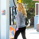 Holly Madison at a gas station in Hollywood