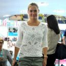 Bar Refaeli at the Aquatic Center during the London 2012 Olympic Games (August 1)