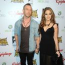 Greg Puciato and actress Jenna Haze arrives at the 2012 Revolver Golden Gods Award Show at Club Nokia on April 11, 2012 in Los Angeles, California.