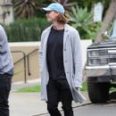 Patrick Schwarzenegger and his mother Maria Shriver are spotted out house hunting for Patrick in Hollywood, California on January 10, 2017 - 427 x 600