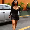Kim Kardashian in Short Skirt Arrives to Filming KUWTK in Studio City