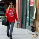 Paris Hilton spotted out and about with her dog in Beverly Hills, California on April 8, 2015