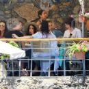 Vanessa Hudgens and Austin Butler mingled with model Luciana Gimenez Morad and her son Lucas Jagger in Portofino, Italy - 19 June 2016 - 454 x 318