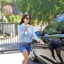 Kourtney Kardashian going to her offices in Malibu (August 20)