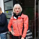 Kimberly Wyatt in Red Jacket – Out in London - 454 x 708