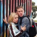Kristen Bell and Aaron Ashmore