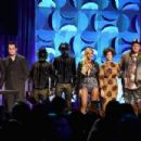 Jason Aldean, Jack White, Daft Punk, Beyonce, Regine Chassagne, Win Butler, and Alicia Keys onstage at the Tidal launch event #TIDALforALL at Skylight at Moynihan Station on March 30, 2015 in New York City.
