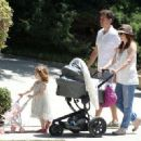 Alyson Hannigan: went for a stroll in Brentwood