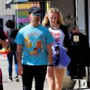 Sophie Turner in White Shorts – Heads out to Studio City
