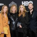 David Bryan of Bon Jovi, and family attend the 33rd Annual Rock & Roll Hall of Fame Induction Ceremony at Public Auditorium on April 14, 2018 in Cleveland, Ohio - 454 x 356