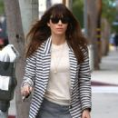 Jessica Biel stops by her restaurant Au Fudge for lunch in West Hollywood, California on January 24, 2017