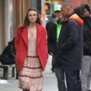 Keira Knightley film scenes for the upcoming movie 'Collateral Beauty' in New York City, New York on April 1, 2016 - 446 x 600