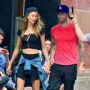 Adam Levine and Behati Prinsloo in New